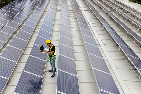 Professional solar installers